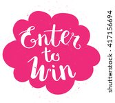 enter to win vector sign  win... | Shutterstock .eps vector #417156694