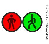 pedestrian traffic lights red... | Shutterstock .eps vector #417160711