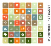 set of 49 universal icons.... | Shutterstock .eps vector #417162397