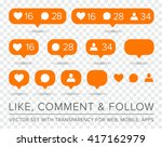vector like  follower  comment... | Shutterstock .eps vector #417162979