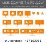 vector like  follower  comment...   Shutterstock .eps vector #417163081