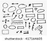 infographics elements sketching ... | Shutterstock .eps vector #417164605