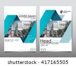 blue ribbon annual report...   Shutterstock .eps vector #417165505