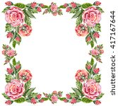 serviette  flower rose ... | Shutterstock . vector #417167644