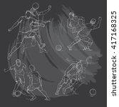 hand drawn illustration of... | Shutterstock .eps vector #417168325