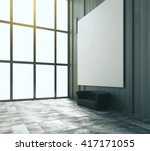side view of room with sofa and ... | Shutterstock . vector #417171055