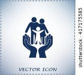 family life insurance sign icon.... | Shutterstock .eps vector #417175585
