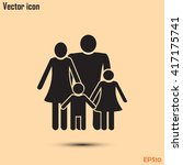 happy family icon in simple...   Shutterstock .eps vector #417175741