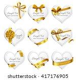 set of beautiful heart shaped...