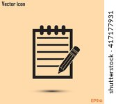 pictograph of note | Shutterstock .eps vector #417177931