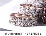 chocolate and coconut pastries | Shutterstock . vector #417178351