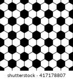 black and white hexagon soccer... | Shutterstock .eps vector #417178807