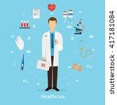 medicine concept vector... | Shutterstock .eps vector #417181084