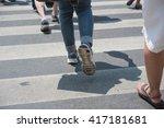 people walking on the crosswalk   Shutterstock . vector #417181681