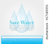 save water concept. illustration | Shutterstock .eps vector #417185551