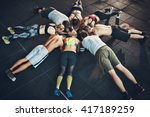 fit young people focused on... | Shutterstock . vector #417189259