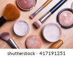 face makeup cosmetics on a... | Shutterstock . vector #417191251