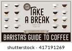 take a break poster  coffee... | Shutterstock .eps vector #417191269