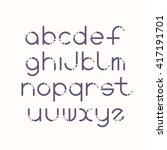 line and circle latin font ... | Shutterstock .eps vector #417191701