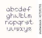Line And Circle Latin Font ...
