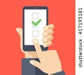 checkboxes on smartphone screen.... | Shutterstock .eps vector #417195181