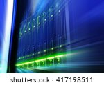 rack with blade behind bars... | Shutterstock . vector #417198511
