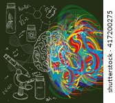 brain left analytical and right ... | Shutterstock .eps vector #417200275