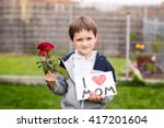 Mother\'s Day   Boy Giving His...