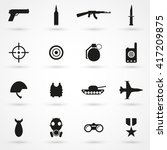 War Icon Set Isolated On...