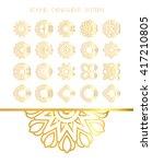 traditional golden decor on... | Shutterstock .eps vector #417210805
