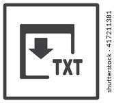 txt icon | Shutterstock .eps vector #417211381