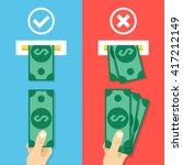 how to insert cash in atm... | Shutterstock .eps vector #417212149