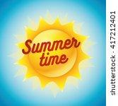 Vector Summer Sun Character...