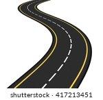 asphalt road on white... | Shutterstock .eps vector #417213451