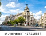 madrid in a beautiful summer... | Shutterstock . vector #417215857