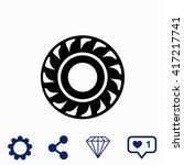 tire icon. | Shutterstock .eps vector #417217741
