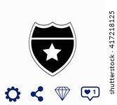 police badge icon. universal...