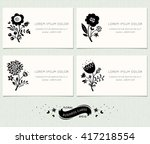 set of floral business cards....   Shutterstock .eps vector #417218554