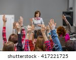 diverse group of students in... | Shutterstock . vector #417221725