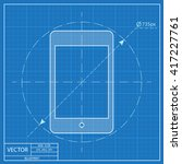 blueprint icon of tablet....