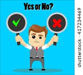 yes or no choice business... | Shutterstock .eps vector #417234469