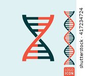 dna icon. dna helix symbol....