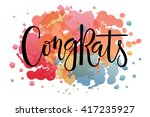 "hand sketched ""congrats""...   Shutterstock .eps vector #417235927"