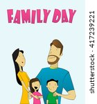 illustration of family with... | Shutterstock .eps vector #417239221