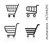set of four shopping cart for... | Shutterstock .eps vector #417244291