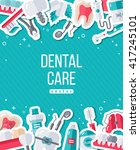 dentistry banner with flat...