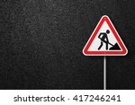 sign triangular shape with a... | Shutterstock . vector #417246241
