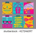 vector set of bright color... | Shutterstock .eps vector #417246397