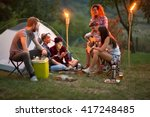 socializing youngsters in... | Shutterstock . vector #417248485