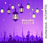 night background. ramadan... | Shutterstock .eps vector #417249751